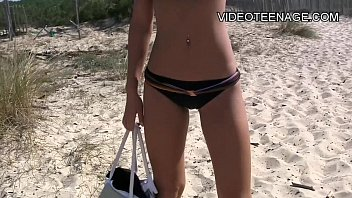 beach nude shemale Cought in panties