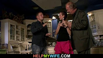 2 gangbanged part husband front wife of in cuckold Happy older couple 1
