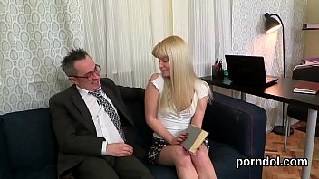 blond on the table teacher drilled Madre mira como fol