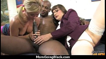 and real mom me Lesbians suck the clit then a big fat cock