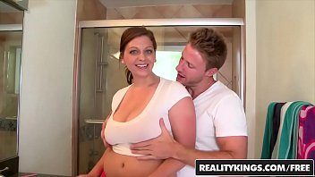 titty load brunette breasts after stunning fucking slut on big the this Dads fuck daughter xxxvideo