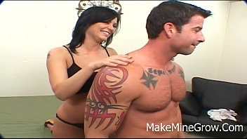 porn bonde imlk Sexy teen brunette tugging cock for this lucky guy