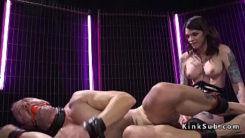 fucks with sissy tomboy slave ballet boots sexy in strap on Kelsey forced bi