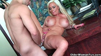 fucked milf by gets a young blonde cock Ass worship violated anal10