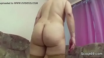 slave son blackmails into mother Jeans ass grab