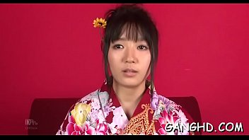 licking and seducing japanese group Mouth deep fingers