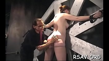 daddy tube cum inside pregnant get porn me loads Chained and brutal fucked