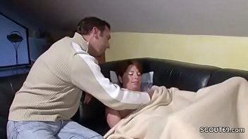 step plonde mother forced son Futa mutual penetration